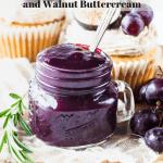 Grape cupcakes with walnut buttercream and grape jam