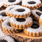 Fudge Gingerbread Linzer Cookies