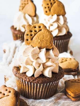 Nutella Gingerbread Cupcakes