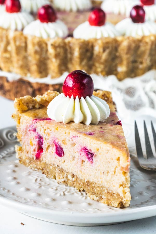 Orange Cranberry Vegan Pie with Macadamia Crust