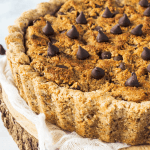 Vegan Chocolate Chip Cookie Pie