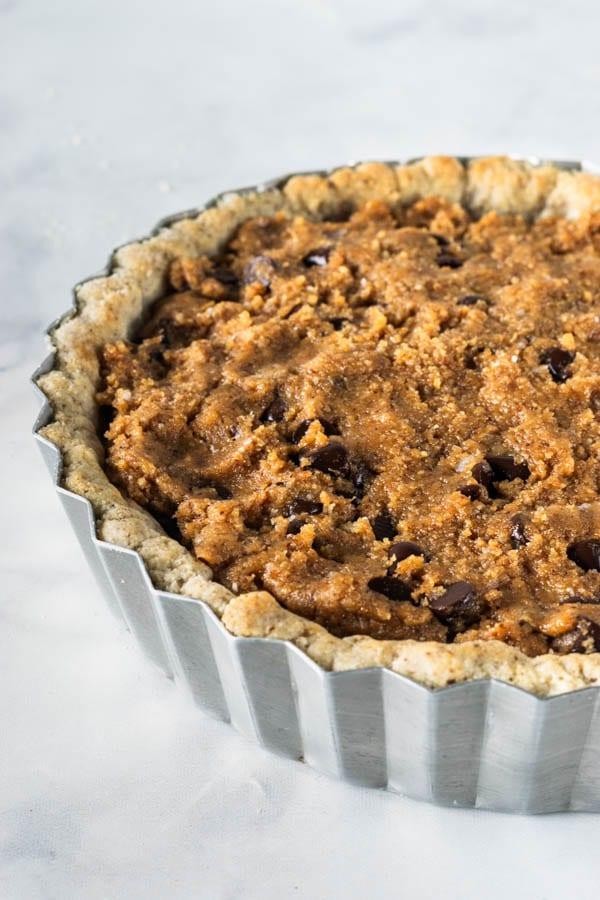 Chocolate Chip Cookie Vegan Pie