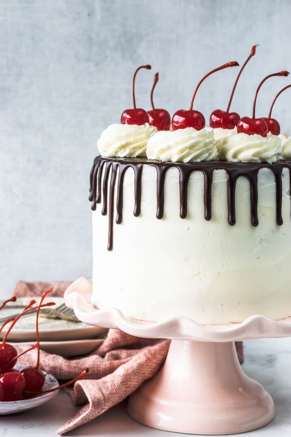 Hot Fudge Sundae Vegan Cake