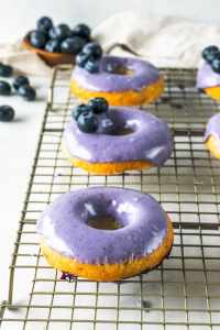 Blueberry Pineapple Vegan Donuts