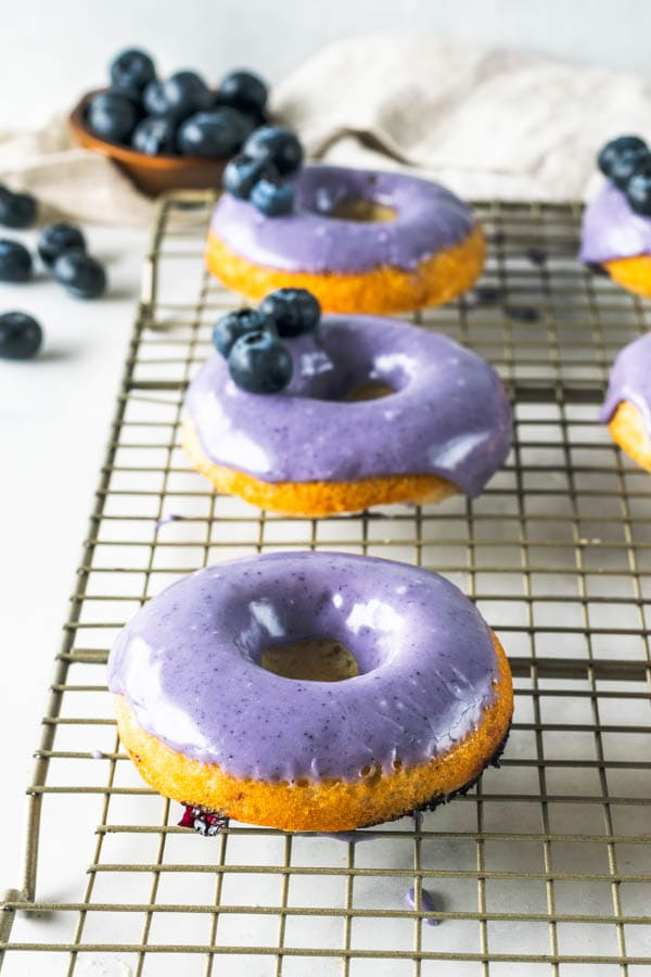 Blueberry Pineapple Vegan Donuts