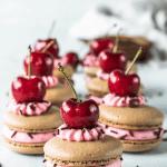 cherry macarons