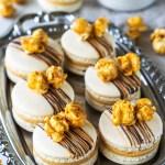 Caramel Popcorn Macarons