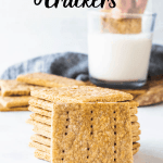Vegan Graham Crackers stack