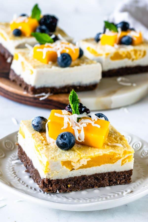 vegan cheesecake bars