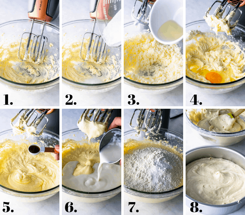 steps on how to make moist vanilla cake
