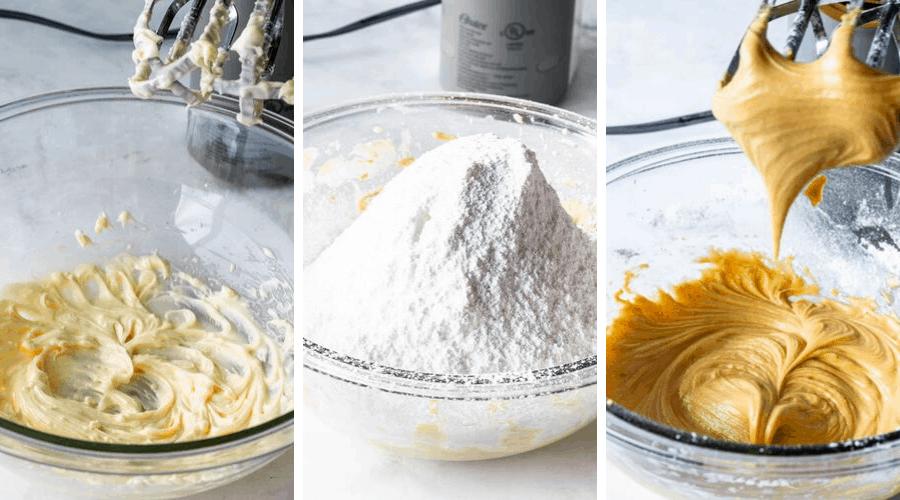 making vegan caramel buttercream