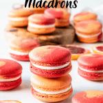 two color macarons