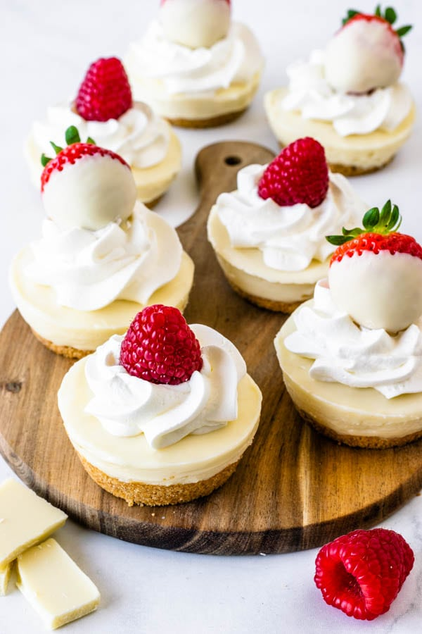 No-Bake White Chocolate mini Cheesecake