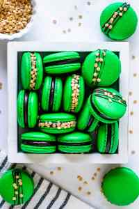 St Patrick's Macarons