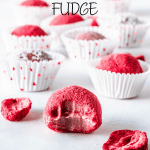 White Chocolate Strawberry Fudge