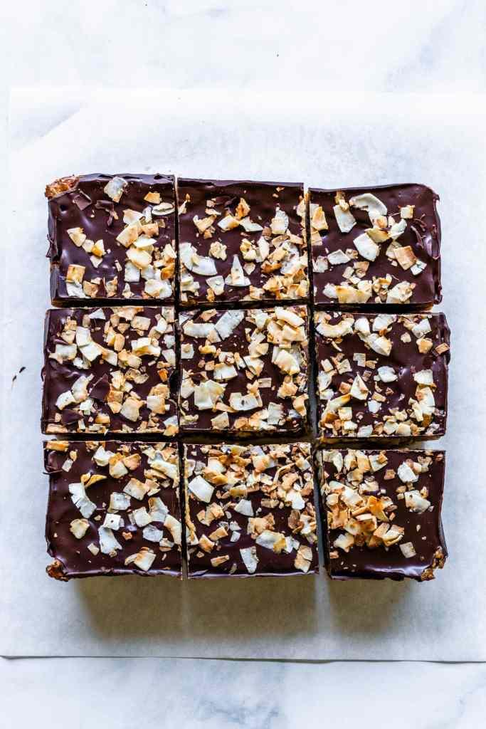 Coconut Chocolate Bars