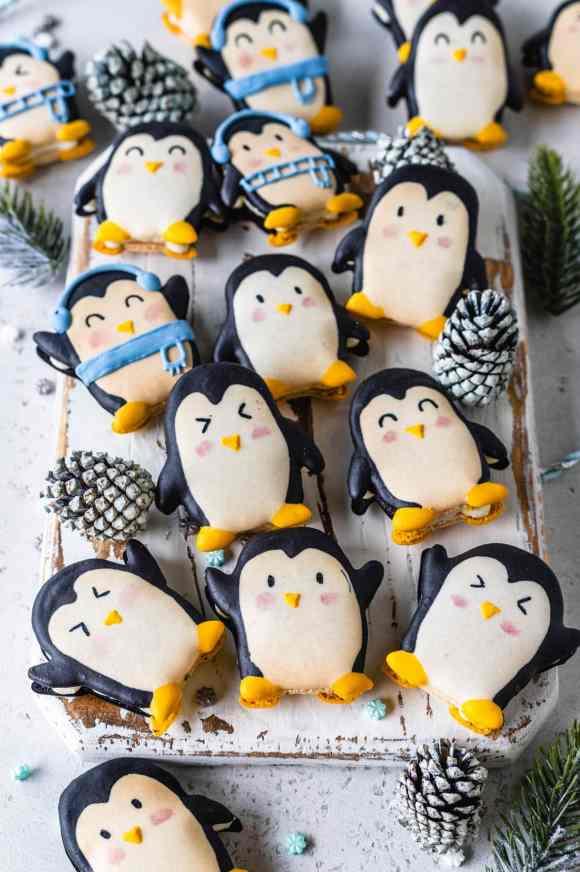 macarons shaped like penguins.