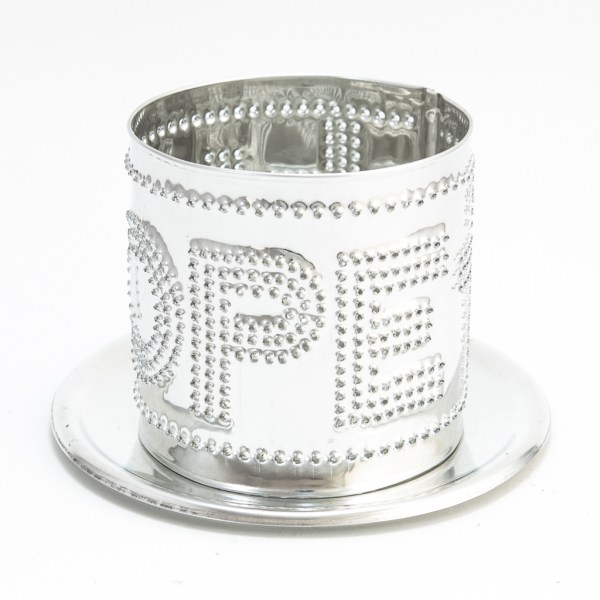 Punched tealight Hope and Cross