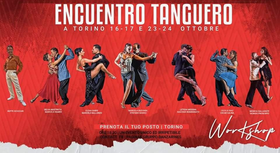 Encuentro Tanguero: 16, 17 e 23 ottobre