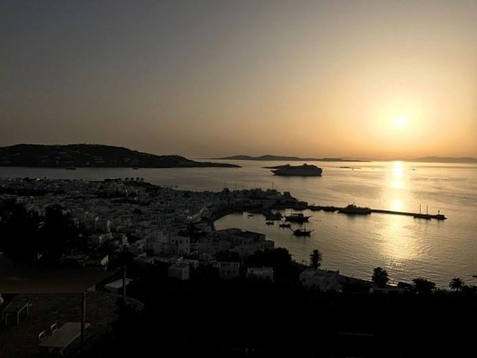 tramonto mare egeo