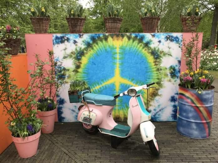flower power garden tema
