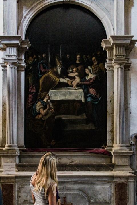 Chiesa dei Carmini, Presentazione di J. Tintoretto, c. 1550