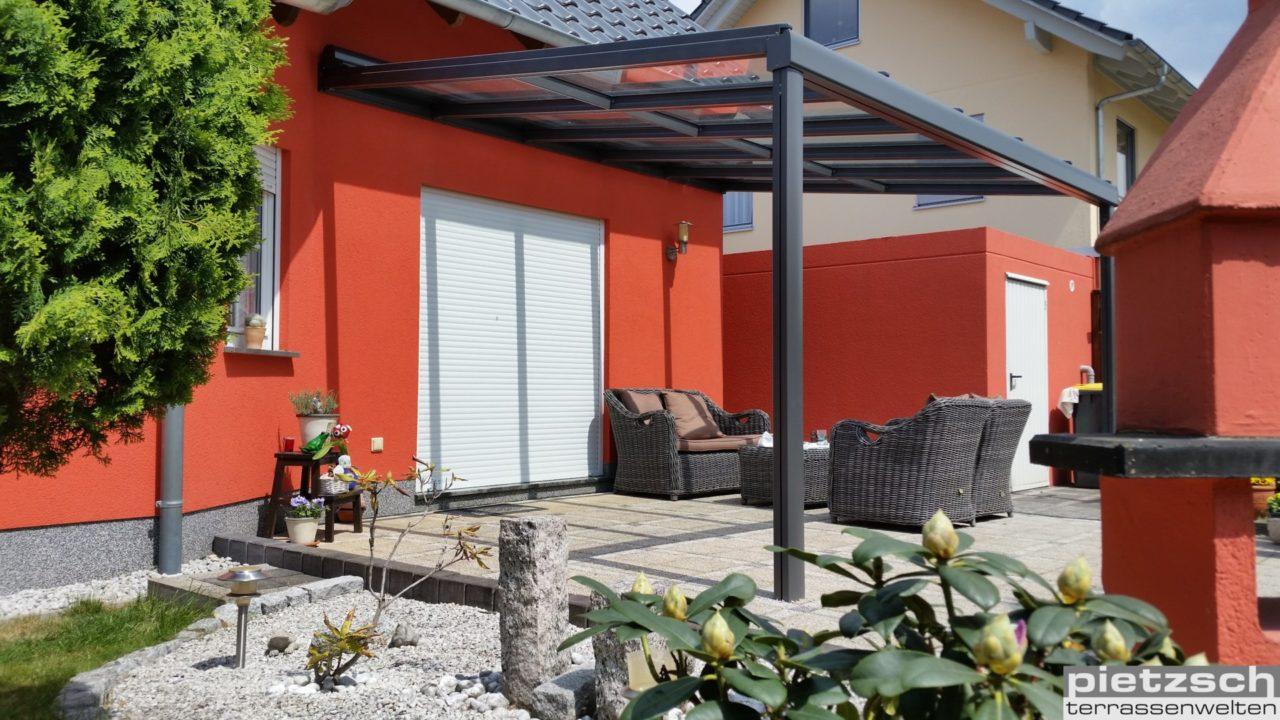 Terrassenüberdachung, TERRADO GP5100, Klaiber, Kaltwintergarten, Glasdach, Sommergarten