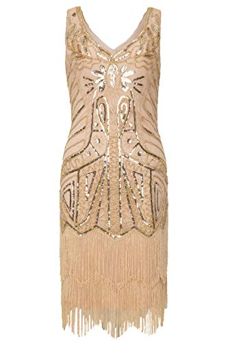 ArtiDeco 1920s Flapper Dress Fringed Sequin Dress Roaring ...