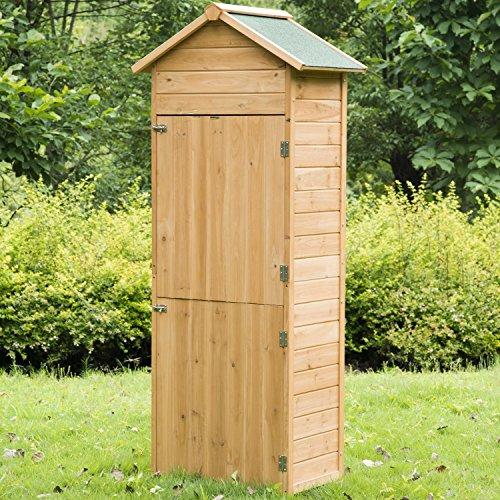 meuble armoire abri de jardin rangement outils exterieur en bois massif neuf 53