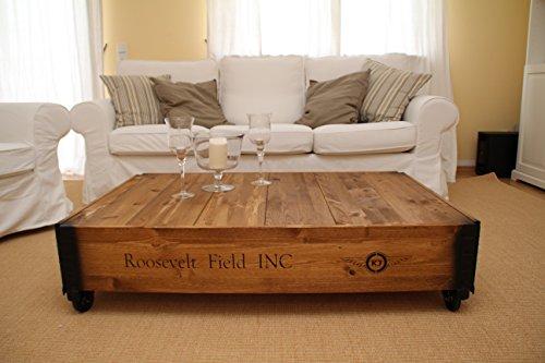 table basse coffre en bois table d appoint vintage style shabby chic bois massif noyer