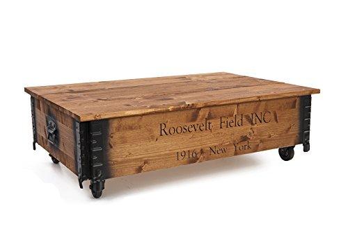 uncle joe s coffre table basse d appoint style maison de campagne shabby chic en bois de noyer massif