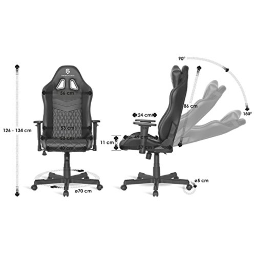 EMPIRE GAMING Mamba Chaise Gamer Fauteuil Gamer Sige