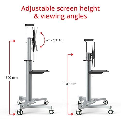 fleximounts p2 pied a roulettes reglables support meuble tv support pied tv pour tv plat lcd led plasma 32 70 pouces 81cm 177cm