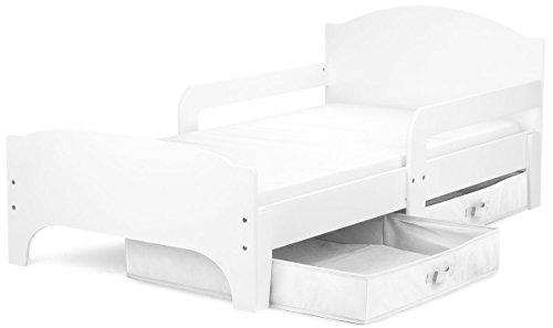 moderne lit d enfant toddler couleur blanche lit pour enfant avec rangement matelas