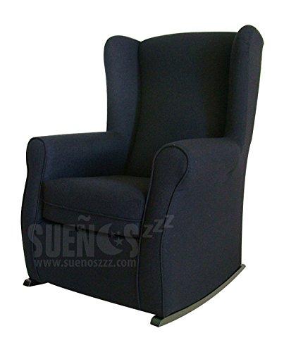 suenoszzz fauteuil a oreilles a bascule ideal pour l allaitement avec revetement type chenille