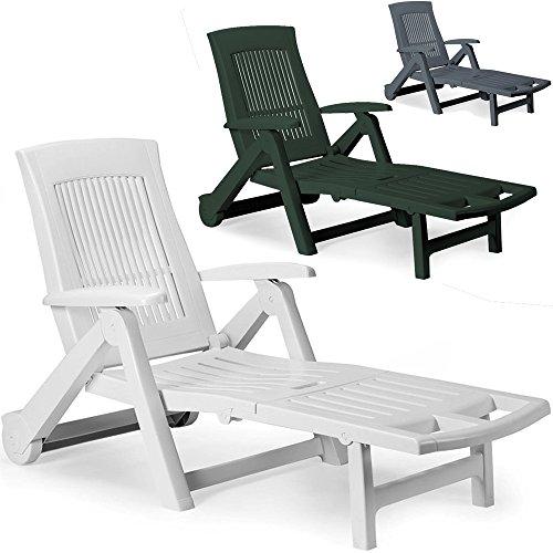 chaise longue pliable pvc dossier reglable bain de soleil transat jardin terrasse piscine