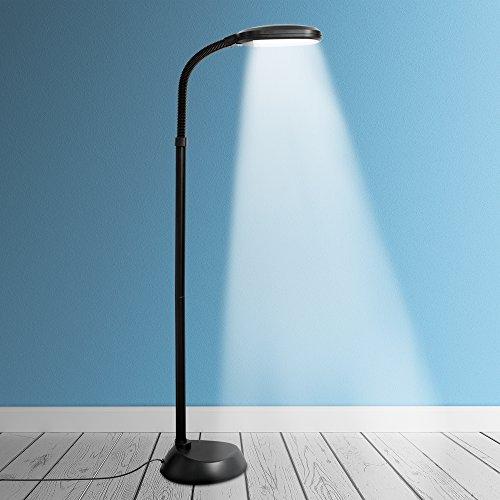 kenley lampadaire sur pied ampoule led 12w dimmable lampe liseuse avec lumiere du jour naturelle luminaire de sol pour chambre bureau ou salon