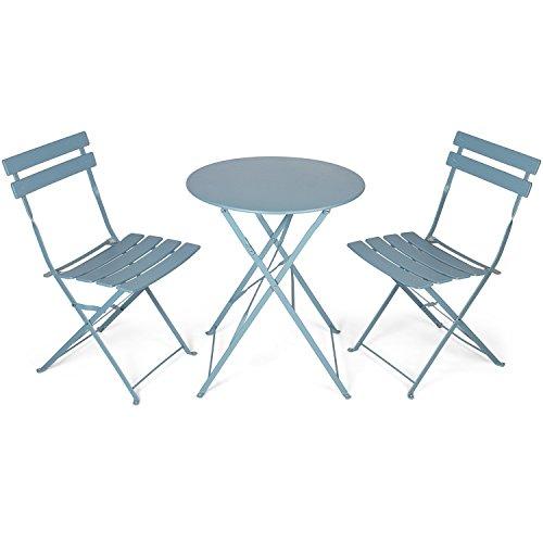 vanage bistro set de balcon en gris table de balcon et balcon chaises sont pliable