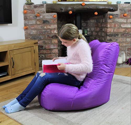 maxibean bean bag pouf interieur exterieur jardin coussin pour fauteuil relax fauteuil pour enfant violet