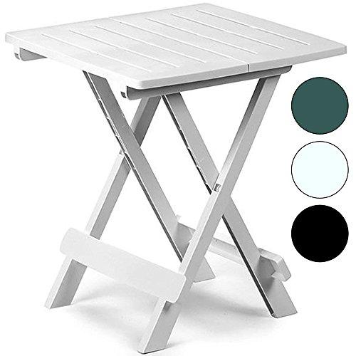table en plastique jardin terrasse balcon adige 45 cm x 43 cm x 50 cm vert ou blanc