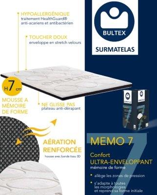 Bultex Surmatelas Memo 7