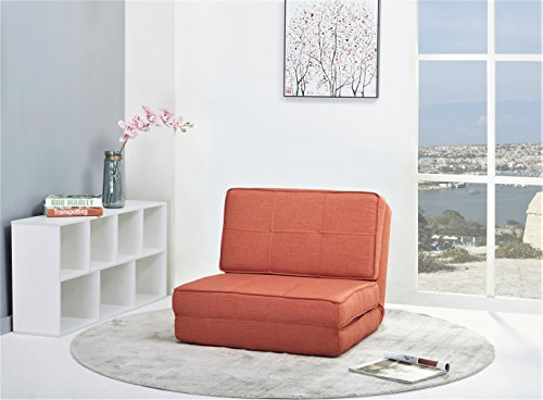 artdeco fauteuil convertible chauffeuse convertible plusieurs couleurs petit orange tissu