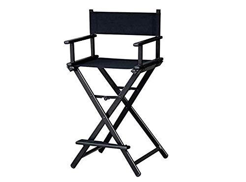 fauteuil pliant fauteuil de directeur artiste maquillage retractable chaise pliante en aluminium noir chaise haute en plein air