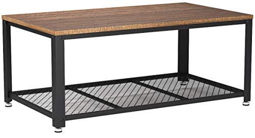 meerveil table basse industrielle table de salon style vintage industriel veinure du bois et armature de metal pour salon cuisin chambre 106 x