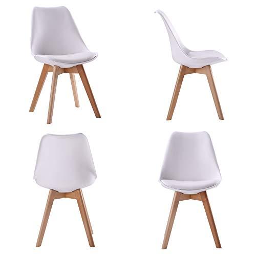 happy garden ensemble table extensible 160 200cm et 6 chaises scandinave blanc nora