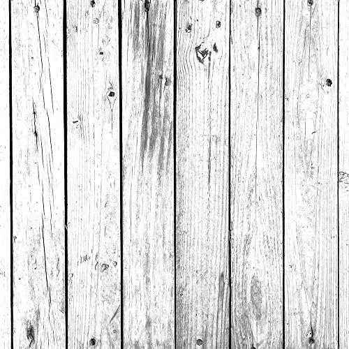 megadecor tete de lit en pvc decorative et economique impression texture bois avec planches vieillies verticales blanc et noir