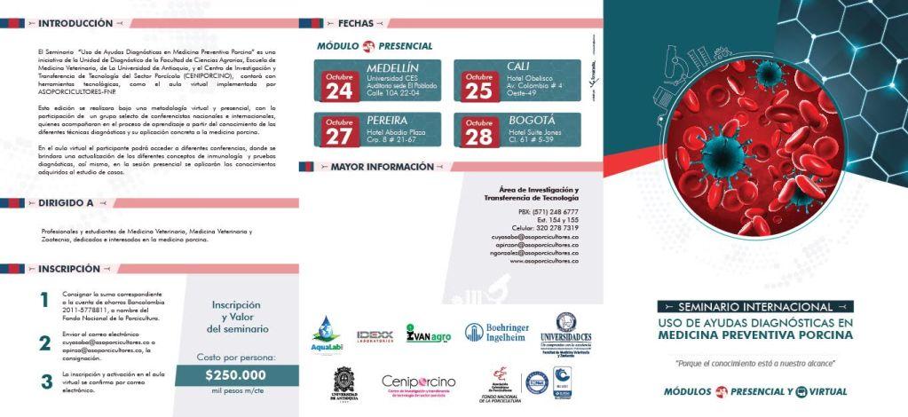 Seminario Internacional: Uso de ayudas diagnósticas en medicina preventiva porcina