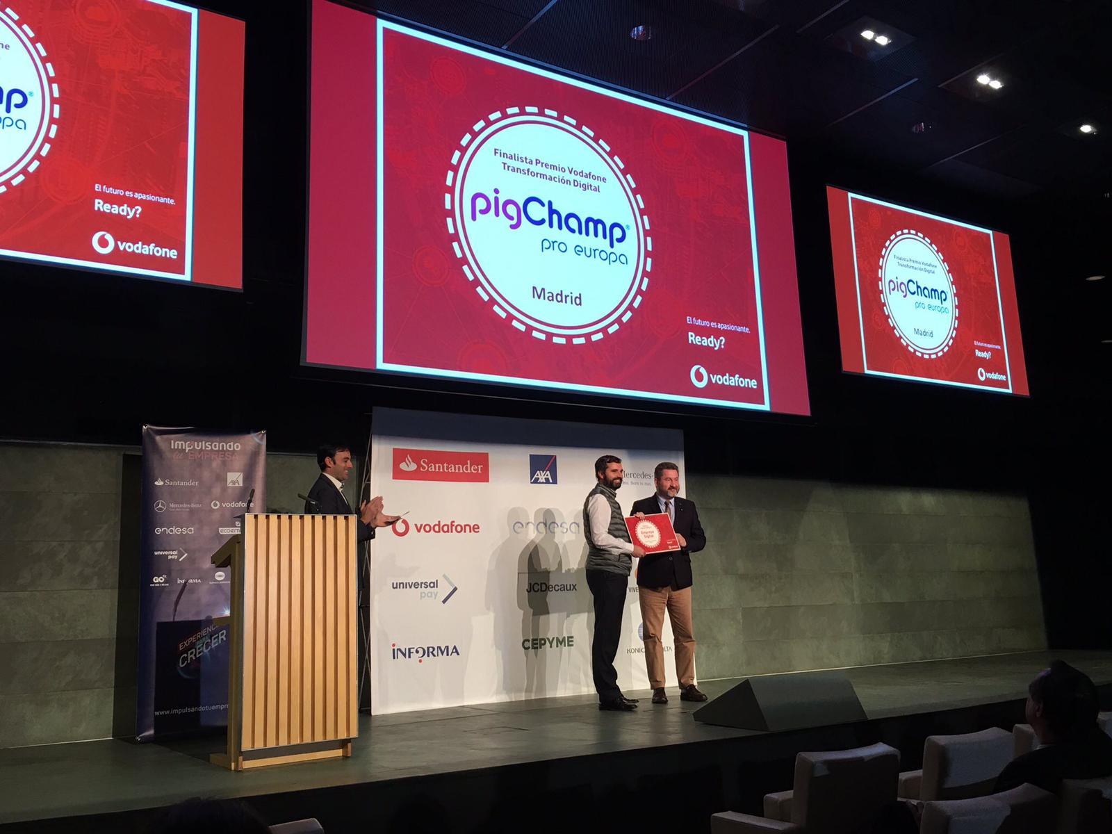 Premio vodafone PigCHAMP Pro Europa