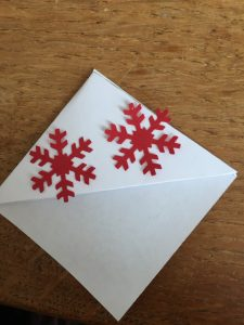book page marker with snowflake decoration