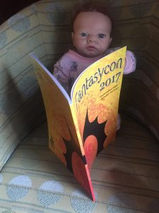Baby reads the Fantasycon programme